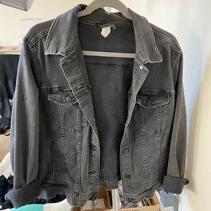 Faded Black Denim Trucker Jacket
